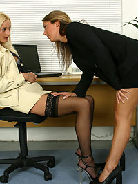 Jo and Sabrina : Watch two stunning lesbian secretaries secret office affair