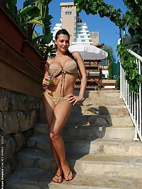 Aletta Ocean is having fun and stripping in Turkey