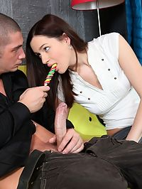 Hot teen schoolgirl Emuna enjoys a cock in the ass
