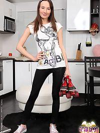 Sexy schoolgirl Nadine in a hardcore anal fucking