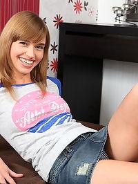 Sexy teen Katarinkas gaping ass got a hard cock