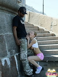 Sporty Olga let her tight ass filled by black guy