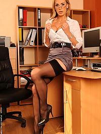 Lazy secretary Tanya got pussy fucked by her boss