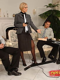 Very big DP fucking action on a business meeting