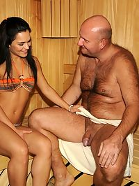 Sexy Sandra Rodriguez fucking with much older man