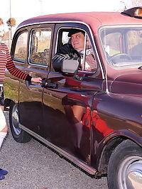 Old cab driver fucks a teen schoolgirl passanger