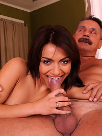 A Romanian gypsy girl who fucks with older guys