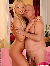 Ksara is having sex with a naughty old grandpa