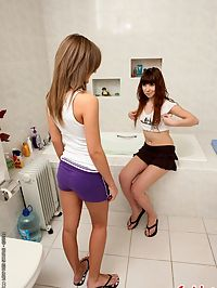 Inna and Zhenia are two anal sex hungry lesbians