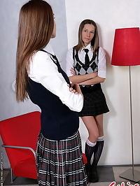 Very hot schoolgirl having an anal dildoing act