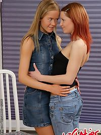Charlene and Laima are doing lesbian sex together