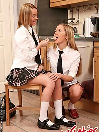 Nasty schoolgirls fucking each pussies and assholes