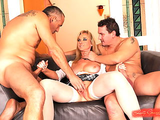 Busty mature babe Monik in a hardcore dp action