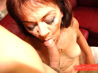 Granny gets fake and real cock into her old pussy
