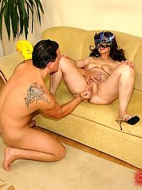 Granny Marianne has a good time with young a cock