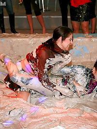 Two very horny teenage girls enjoy getting down and dirty