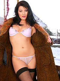 Sucking and hardcore anal fucking santas stiff frosty pole