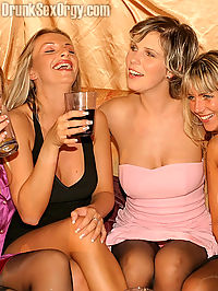 Group of lesbians getting drunk and enjoying some group sex
