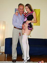 Very sexy and horny english cheerleader fucking and spanking