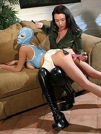 Kinky sensual lesbian babes having horny femdom actions