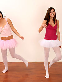 Horny ballet chicks wearing tutu eating eachothers wet pussy