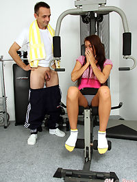 Hot chick banging her fitness instructor at the local gym