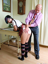 Very horny senior teacher screws his naughty sexy student