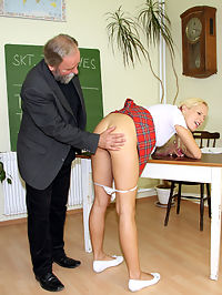 A horny schoolgirl nailed hardcore by her senior teacher