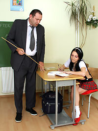 Old senior teacher screwing a horny and willing student
