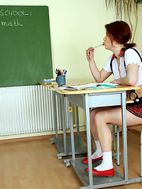 A very naughty schoolgirl fucked by her old horny teacher