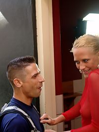 A paid blonde hooker fucked doggystyle for lots of money
