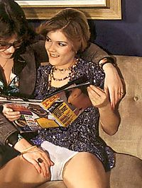 Retro ladies get caught reading porn magazine and get fucked