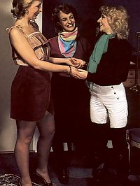 Three seventies ladies trying out a new fucking machine