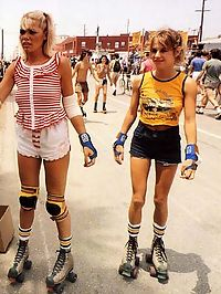 Two skater girls pleasing a seventies dude they picked up