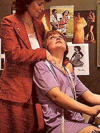 Four seventies lesbians having hot dirty office encounter