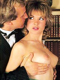 Two big seventies guys stuffing and facialising a retro lady
