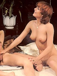 Two hairy seventies ladies enjoying a stiffy cameraguy dick