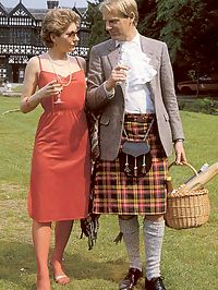 Hairy seventies lady seduced by this horny scottish guy