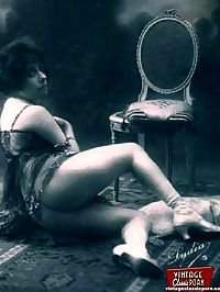 Pretty vintage beauties wearing underwear in the thirties