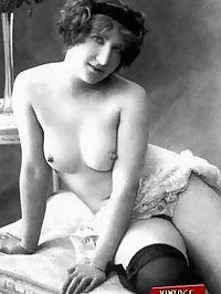 Vintage chicks in garters posing in the twenties willingly
