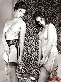 Hot vintage girls wearing very sexy garters in the fifties