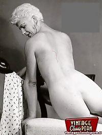 Several sexy vintage blonde girls posing nude everywhere