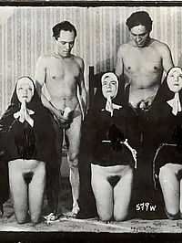 True vintage hairy nuns are posing naked retro pictures