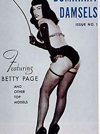 Betty Page showing her sexy moves in hot and wild lingerie