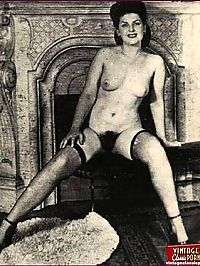 Several sexy hairy vintage wifes showing their furry zones
