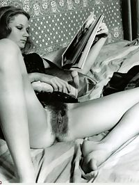 Sexy vintage ladies with moist hairy vaginas spreading wide