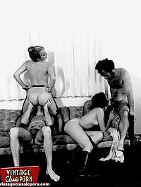 Hairy sixties ladies enjoy cock inside their furry slit