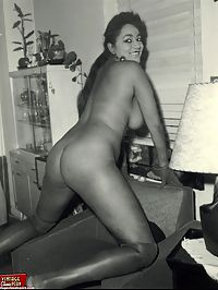Black babes from the sixties showing their big natural boobs