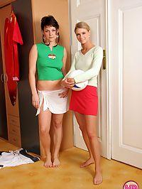 Lesbian soccer teen licks her friends clit in pink panties