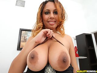 Amazing hot big ebony tits babe gets her brown ass fucked and creamed after getting picked up in a restaurant hot pics